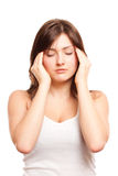 Emicrania, migrene Fotografie Stock