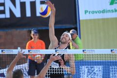 Emiel Boersma - beach volleyball Stock Photo