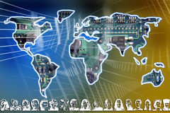 emigracja globalizująca Fotografia Royalty Free