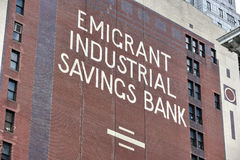 Emigrant Industrial Savings Bank Stock Photos