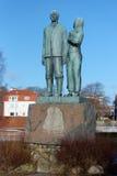The emigrant monument Stock Image