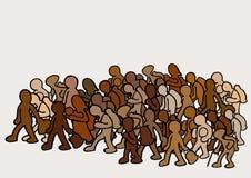 Emigrantes no grupo imagem de stock