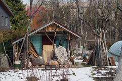 The emigrants  slum and shed Royalty Free Stock Photography