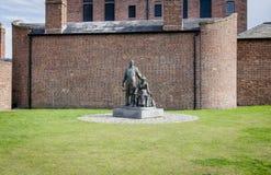 The Emigrants (statue), Albert Dock, Liverpool Stock Photography