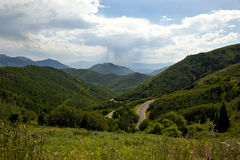 Emigration Canyon Near Salt Lake City Utah. Highway through the mountains and forests of Emigration Canyon near Salt Lake City, Utah royalty free stock photos