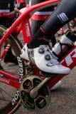 Emigre el pedal del equipo durante campo de entrenamiento en Mallorca fotografía de archivo libre de regalías