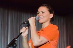 Emilíana Torrini, Stufe-Klumpen, Hamburg, 20.10.2008 Lizenzfreies Stockfoto