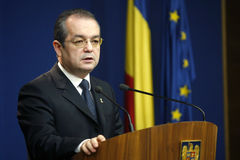Emil Boc - former prime minister of Romania Stock Photography
