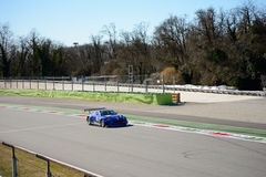 Emil Frey Jaguar Racing GT3 car at Monza. Emil Frey Jaguar Racing team brings his GT3 car on track at the Autodromo Nazionale Monza, in occasion of 2017 test Royalty Free Stock Images