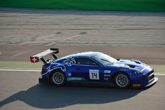Emil Frey Jaguar XKR-S GT3 in Monza stockbilder