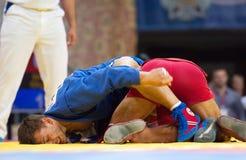 Emil Khasanov i Evgeniy Sukhomlinov walki (R) (b) Zdjęcie Royalty Free