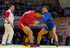 Emil Khasanov (r) contro Evgeniy Sukhomlinov (B) Immagine Stock Libera da Diritti