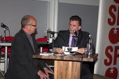 Emile Roemer przy partyjnym spotkaniem w Meppel Fotografia Stock