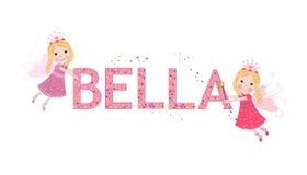 Emilia female name with cute fairy tale Stock Photography