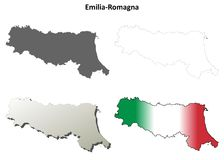 Emilia-Romagna blank detailed outline map set. Emilia-Romagna region blank detailed outline map set Royalty Free Stock Photography