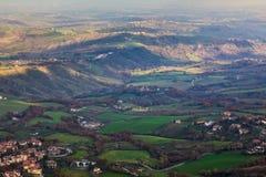 Emilia Romagna hills. A view of Emilia Romagna hills Royalty Free Stock Photos