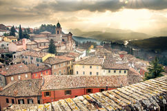italian village landscape stock images
