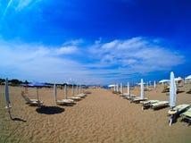 Emilia Romagna-Strandurlaubsort Lizenzfreies Stockbild