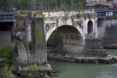 The Emilio Bridge in Rome, Lazio, Italy. Royalty Free Stock Image