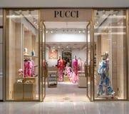 Emilio Pucci shoppar på Emquatier, Bangkok, Thailand, Februari 3, 2019 royaltyfri foto