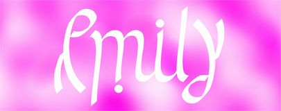Emily ambigram Royalty-vrije Stock Foto's