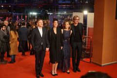Emily Atef, Marie Baeumer and Karsten Stoeter at 68th Berlinale 2018 stock images