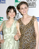 Emily Deschanel,Zooey Deschanel Royalty Free Stock Photo