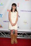 Emily Evan Rae, das zu dem NBCTCA Sommer 2011 alle Stern-Party kommt Lizenzfreie Stockfotografie