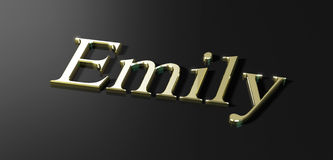Emily. Name Emily written in gold Royalty Free Stock Images