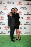 Emily Van Camp, Matthew Rhys. LOS ANGELES - OCT 15: Matthew Rhys, Emily VanCamp arriving at the 2011 Environmental Media Awards at the Warner Brothers Studio on stock image