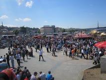 Eminonu广场在伊斯坦布尔,土耳其 库存照片
