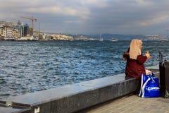 Eminonu Bosphorus Fatih Istanbuł, Turcja fotografia stock