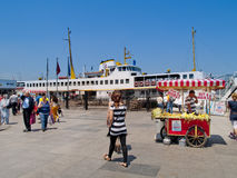 Eminonu dock, Istanbul, Turkey Royalty Free Stock Photography