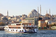 Eminonu harbor Royalty Free Stock Photos