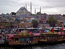 Eminonu, Istanbuł Suleymaniye meczet fotografia royalty free