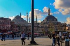 Eminonu kwadrat Suleymaniye Meczetowy Istanbuł, Turcja zdjęcie royalty free