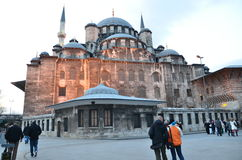 Eminonu New Mosque. From Istanbul royalty free stock images