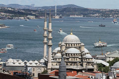 Eminonu New Mosque in Istanbul City Stock Photography