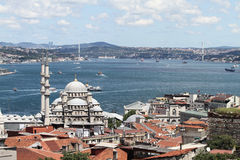 Eminonu New Mosque in Istanbul City Royalty Free Stock Images