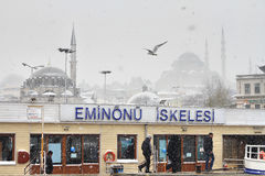 Eminonu Pier Royalty Free Stock Photos
