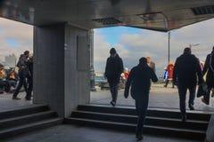 Eminonu przejścia podziemnego wyjście Fatih Istanbuł obraz royalty free