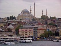 Eminonu & Suleymaniye, Istanbuł Złoty róg zdjęcie stock