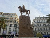 Emir Abdelkader ou Abdelkader El Djezairi était un Sharif algérien religieux et le leader militaire qui Photographie stock libre de droits