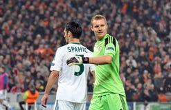 Emir Spahić i Bernd Leno Zdjęcie Stock