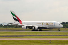 Emirados A380 Foto de Stock Royalty Free