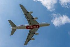 Emirados A380 Fotografia de Stock Royalty Free