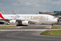 Emirados A380 Imagem de Stock Royalty Free