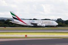 Emirados A380 Fotografia de Stock