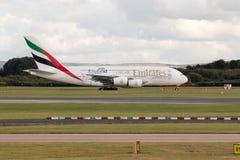 Emirados A380 Imagens de Stock