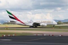 Emirados A380 Imagem de Stock